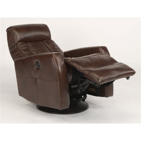 flexsteel swivel recliner flexsteel 1389 53pq galen leather queen power swivel