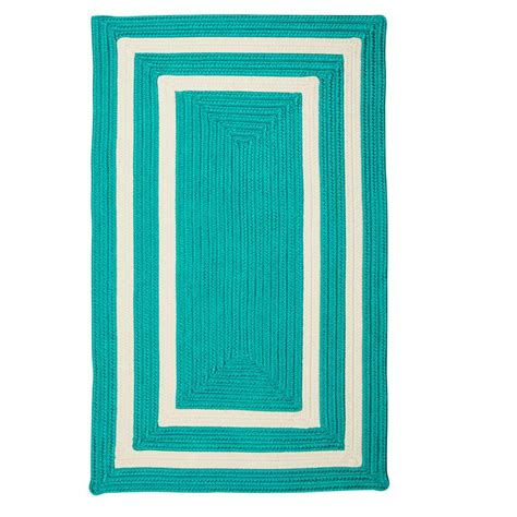 home decorators collection griffin border turquoise white