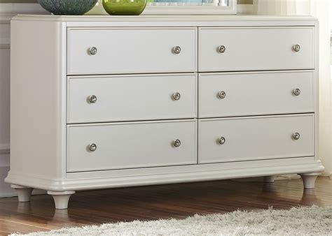 White 6 Drawer Dresser Stardust Iridescent White 6 Drawer Dresser From Liberty 710 Br30 Coleman Furniture