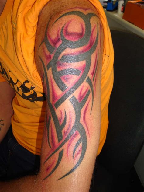black and red tattoos tattooinc tribal gallery