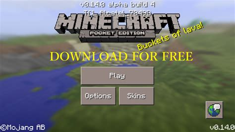 minecraft free apk minecraft pocket edition apk v0 14 3 b781140301 v0 14 0 alpha build 4 mod no damage all