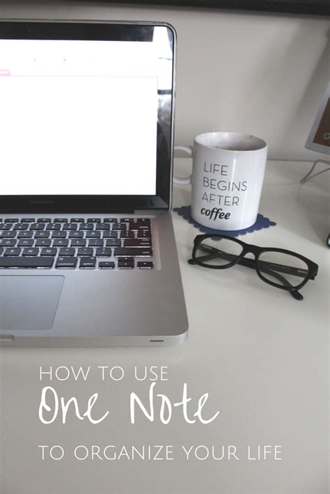 how to organize using one note to organize your life alex marie