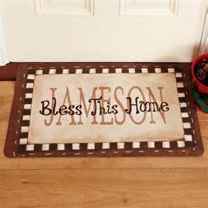 Custom Welcome Mats Bless This Home Doormats