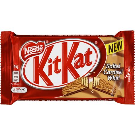 nestle kit salted caramel whirl bar 45g woolworths