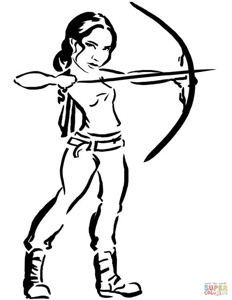 printable hunger games coloring pages katniss from hunger games coloring page free printable