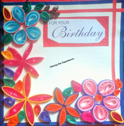How To Make Paper Quilling Cards - how to make paper quilled greeting card