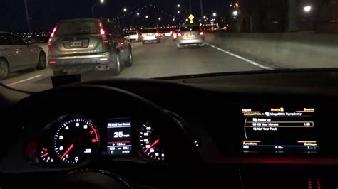 Audi Night by Audi A4 Sline Night Driving Interior View Gwb Youtube