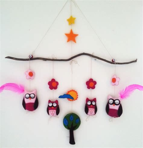Handmade Mobiles - handmade owl mobiles from atolye by idil korkmaz made of