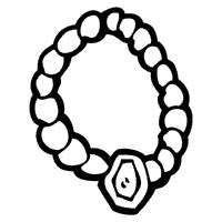 Jewelry 187 Coloring Pages 187 Surfnetkids Necklace Coloring Page