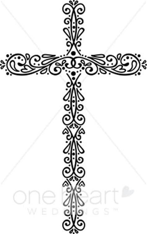 Elegant Cross Accent   Wedding Symbols