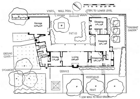 Cliff May Floor Plans by Typical Floor Plan For A 1930s Cliff May House Xamary