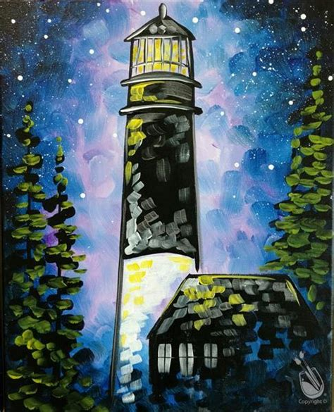 paint with a twist braintree cosmic lighthouse saturday february 25 2017 painting