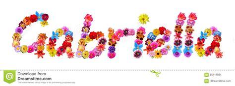nombre decorado gabriela flowers name gabriella stock illustration illustration of
