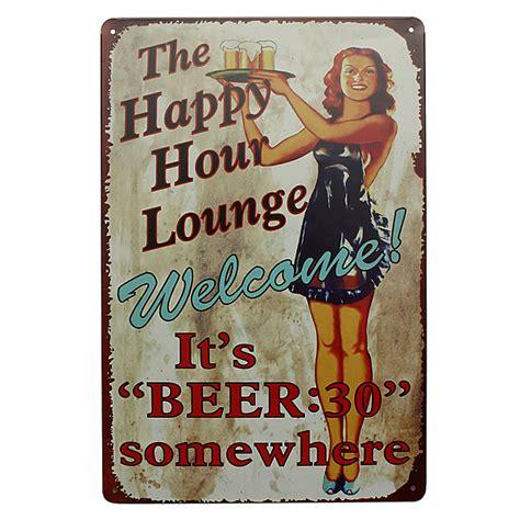 wine beer vintage home decor tin sign 8 quot x12 quot metal signs other home decor lounge beer tin sign vintage metal