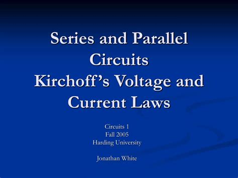 resistors in series and parallel circuits ppt series and parallel circuits ppt 28 images exles of resistors in parallel and series 28