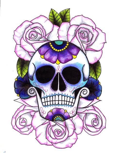 bed of roses tattoo sugar skull tattoos sugar skulls and sugaring