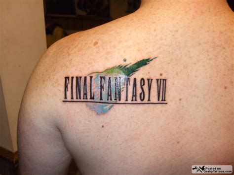 final fantasy tattoos vii geeky tattoos