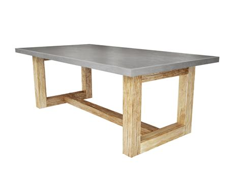 zen wood dining table concrete dining table trueform decor