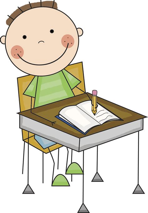 Kid Writing At Desk Clipart Clipartxtras Kid At Desk