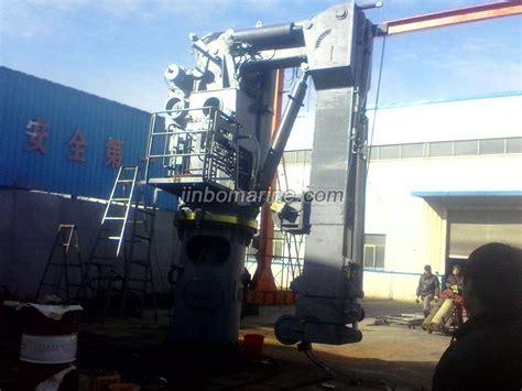boat winch arm hydraulic telescopic folding arm crane and rescue boat