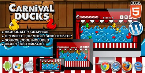 Duck Shoot Brings The Experience Of The Carnival To Your Home by Carnival Ducks Html5 Shooting By Codethislab