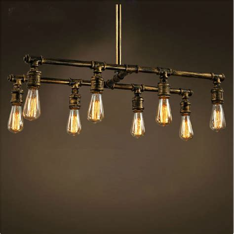 Creative Light Fixtures Industrial Loft Style Vintage Water Pipes Chandelier Light Fixture Creative Personality Retro