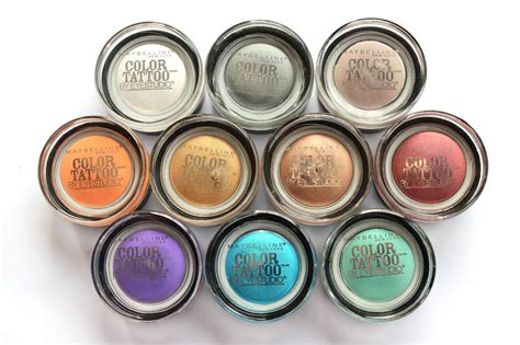 maybelline color tattoo swatches does maybelline color eyeshadow really last 24