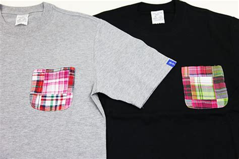 Patchwork Madras Shirt - loopwheeler madras patchwork t shirt freshness mag