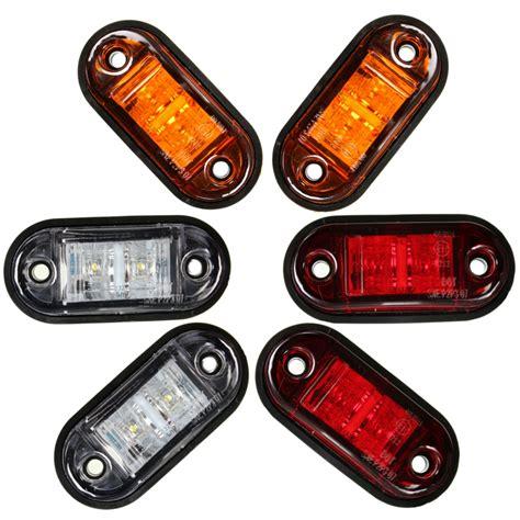 led trailer marker lights 12v 24v 2 led marker blinker trailer lights