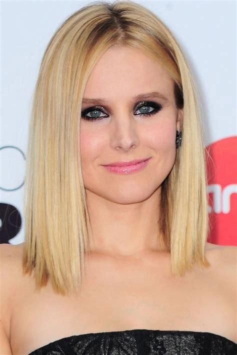 all one length hair styles short hairstyles your a list inspiration kristen bell