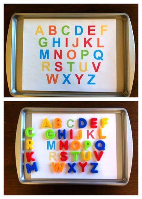 kindergarten activities with magnetic letters toddler alphabet free printable preschool homeschool