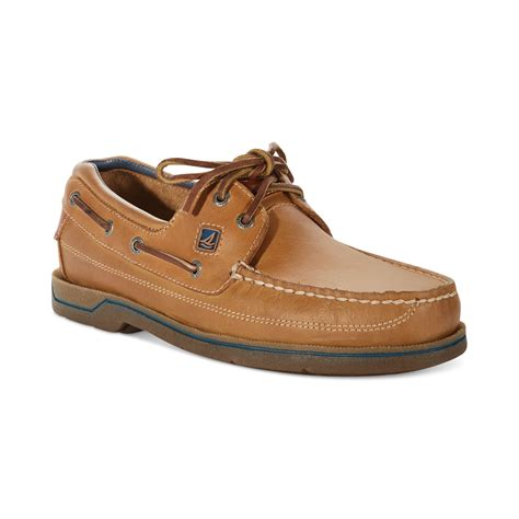 sperry top sider swordfish boat shoes in brown for