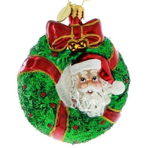 Radko Ornaments Sale - radko gems peek a boo santa wreath ornament new