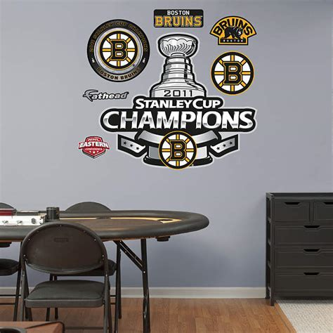 boston bruins home decor boston bruins 2011 stanley cup chions logo wall decal