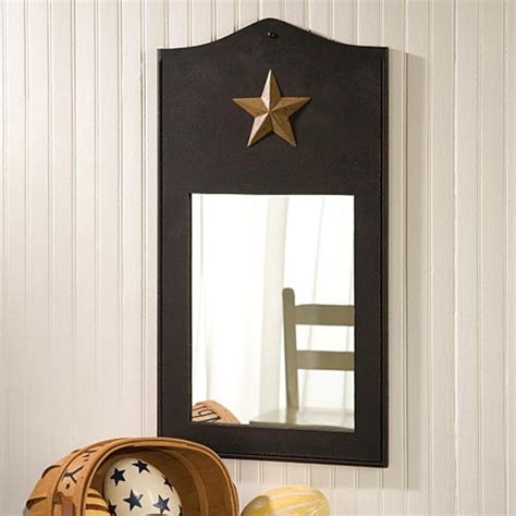 primitive bathroom mirrors primitive star mirror traditional wall mirrors by