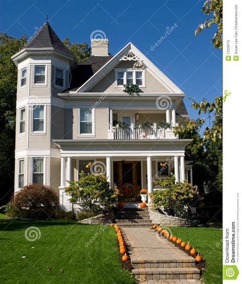 Home Decor Interior Design Blogs by Victorian House In Fall Stock Photos Image 11209173