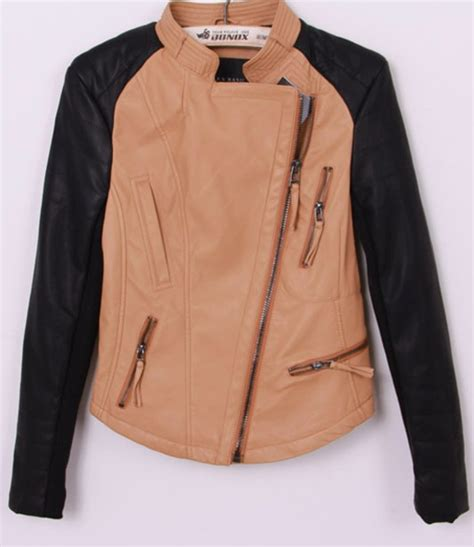 Blazer Casual Black Zipper 28 new style casual turndown collar sleeve zipper black pu jacket leather suede