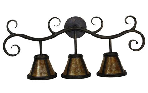Wrought Iron Vanity Lights Bathroom Iron Vanity Lights Mediterranean Bathroom Vanity Lighting San Diego By Hacienda