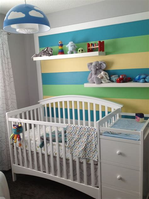 Nursery Light Fixture Baby Nursery Painted Stripes On Wall Crib Bradford Crib And Changer Is Storkcraft