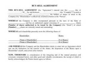 Buy Sell Agreement Template Redemption Buy Sell Agreement Template Templatform Com