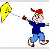 Kid Flying Kite Clip Art at Clker.com - vector clip art online ...