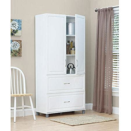White 2 Door Storage Cabinet Systembuild 2 Drawer 2 Door Utility Storage Cabinet White 7364401pcom