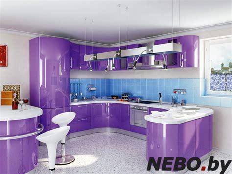 фиолетовая кухня сиреневая кухня дизайн кухни фото