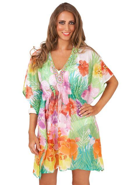 Atasan Wanita Blouse Kimono Palm Best Seller womens kaftan sequin summer dress top cotton beachwear