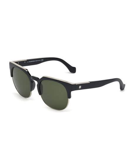 Rimless Square Sunglasses balenciaga semi rimless square sunglasses black
