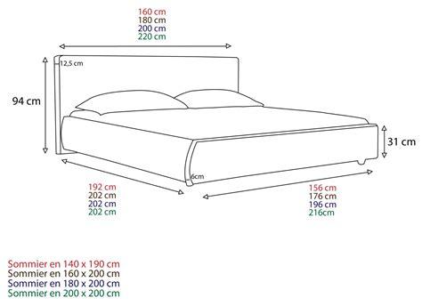 dimension de lit t 234 te de lit cuir selve hauteur 100 cm 3 tailles am pm