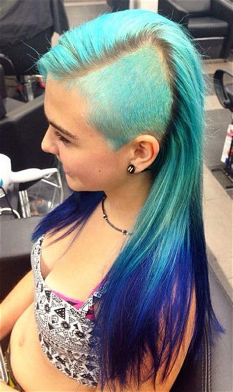 pravana blue hair color pravana ombre in turquoise and blue hair colors ideas