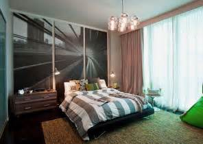Modern teenage boy room design ideas with beautiful wall decor