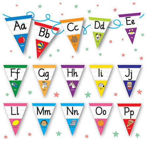 printable mini bunting letters pedagogs alphabet bunting a z flags