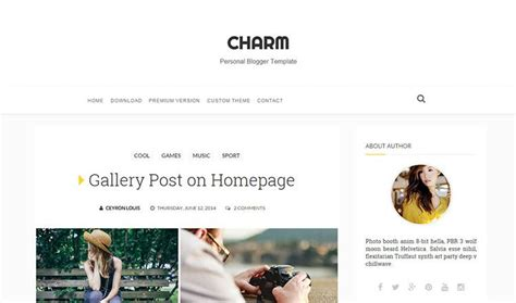 templates blogger clean charm personal blogger template oddthemes